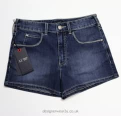Armani Jeans Ladies Denim Shorts with Sparkle Detail