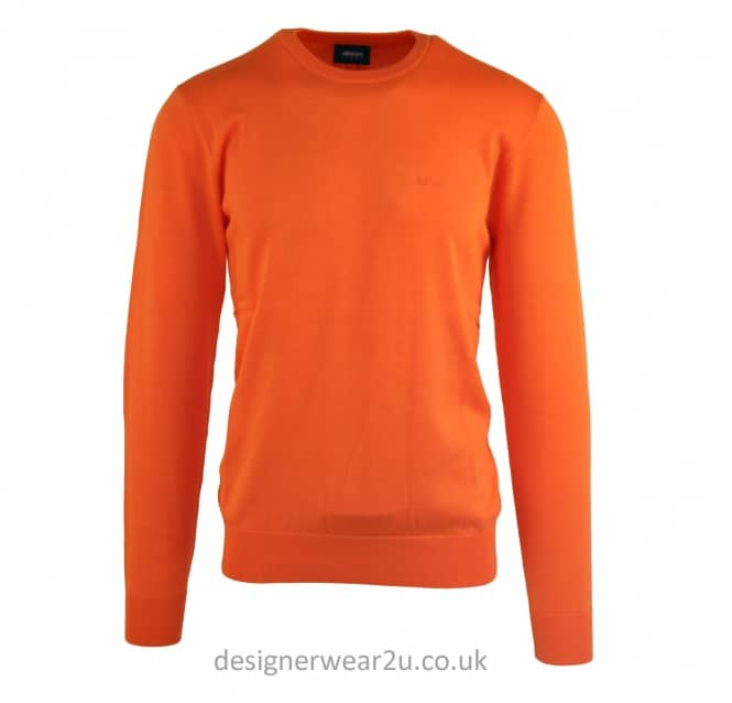 Armani Jeans Armani Jeans Lightweight Orange Crewneck Jumper