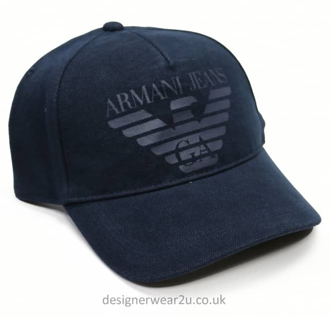 Armani Jeans Armani Jeans Navy Baseball Cap With Printed Logo