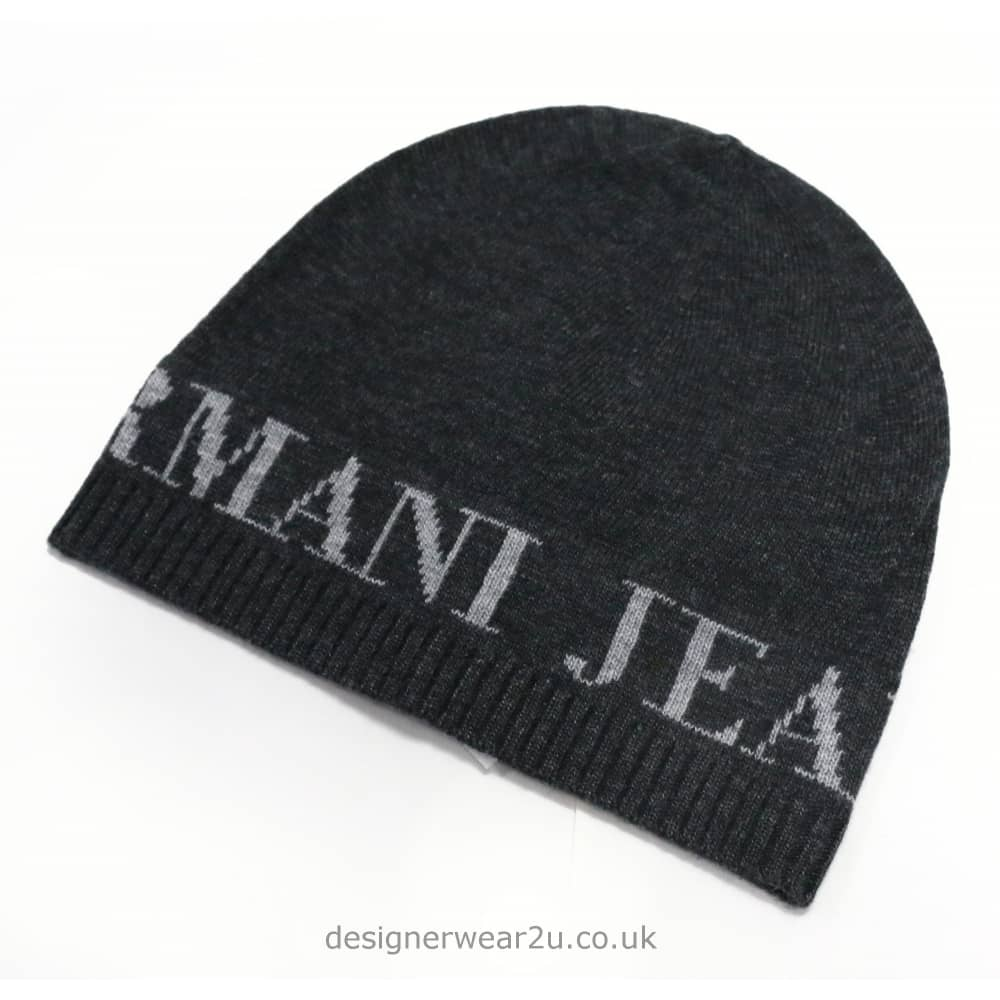 804a566b Armani Jeans Navy Beanie Hat & Scarf Set - Headwear from ...