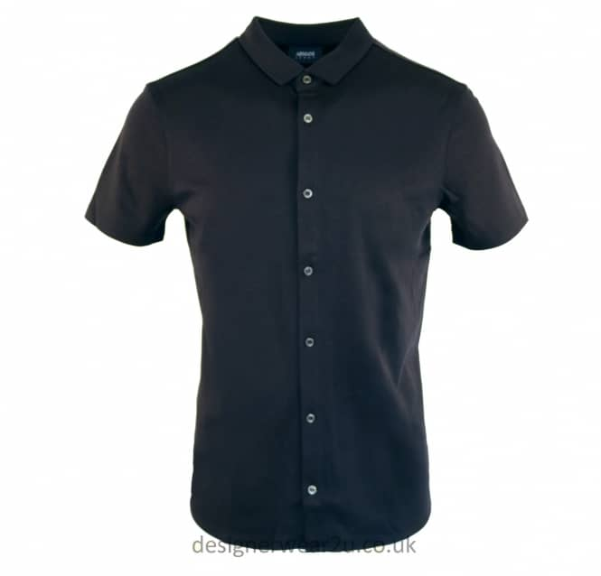 Armani Jeans Armani Jeans Navy Cotton Short Sleeved Shirt