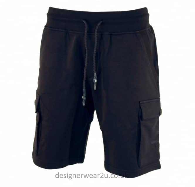 Armani Jeans Armani Jeans Navy Cotton Sweatshorts With Logo