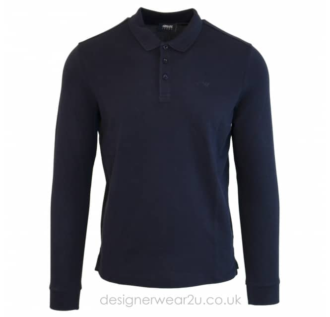 Armani Jeans Armani Jeans Navy Long Sleeved Polo