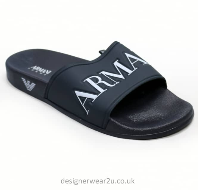 Armani Jeans Armani Jeans Navy Sandal Syle Flip Flops With Eagle Branding