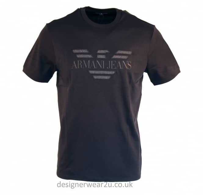 Armani Jeans Armani Jeans Navy T-shirt With Embroidered Logo