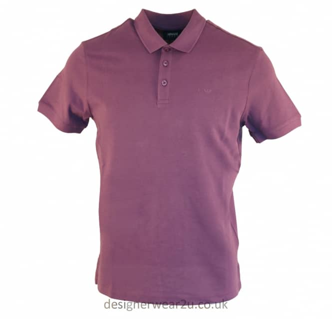 Armani Jeans Armani Jeans Purple Cotton Regular Fitting Polo Shirt