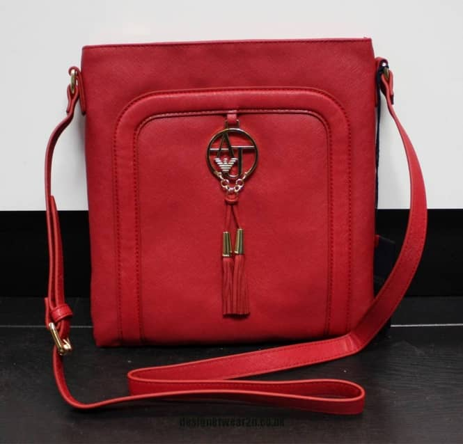affeff70b89c armani jeans ladies red across the body messenger bag accessories uk
