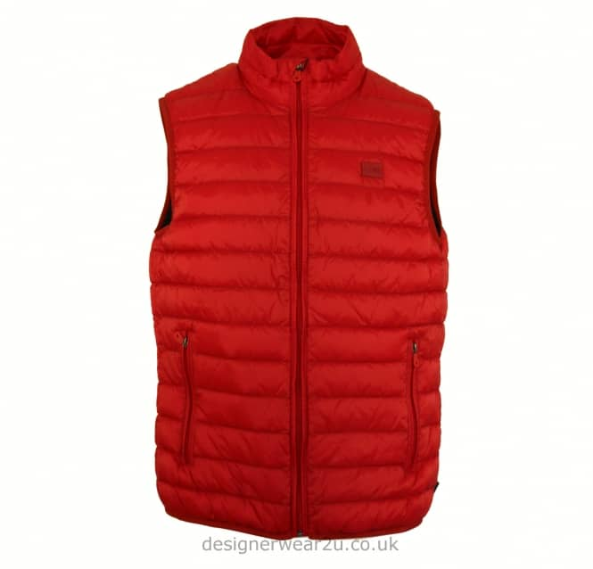 Armani Jeans Armani Jeans Red Ultra Light Duck Down Padded Gilet