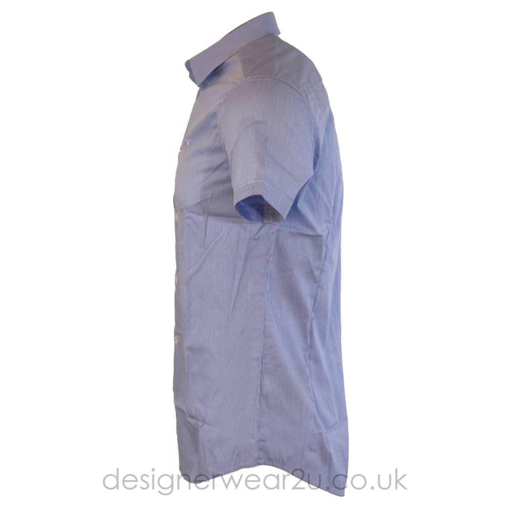 blue armani shirt