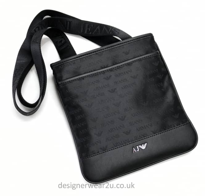 Armani Jeans Armani Jeans Small Messenger Bag With All Over Logo