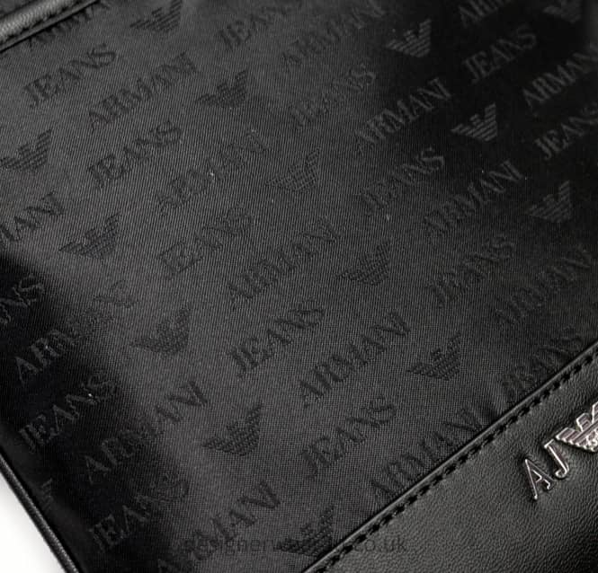 2a139686d395 Armani Jeans Small Messenger Bag With All Over Logo - Accessories ...