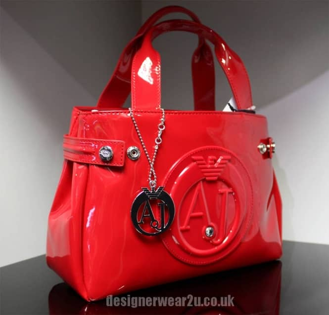 1a4f136f6 Armani Jeans Ladies Armani Jeans Small Red Patent Tote Bag With ...
