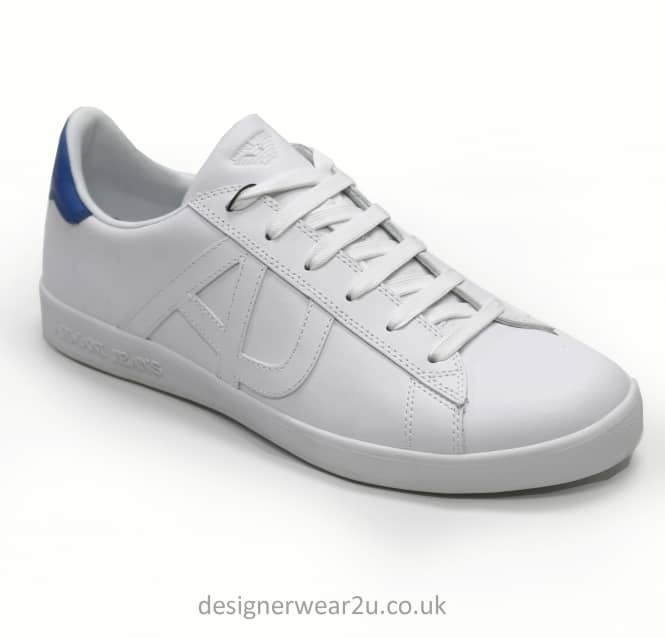 Armani Jeans Armani Jeans White Leather Trainers With Logo