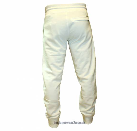 biggest discount various design 50% price Armani Jeans Armani Jeans White Tracksuit Bottoms