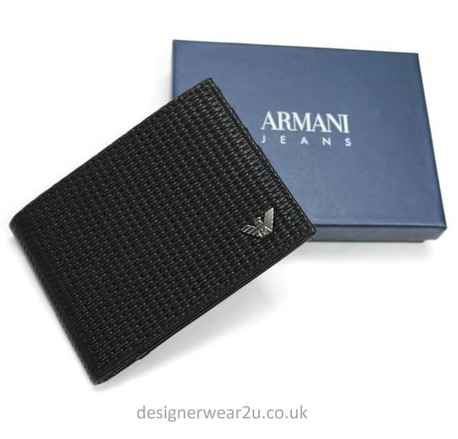 Armani Jeans Armani Jeans Woven Effect Wallet With Eagle Branding