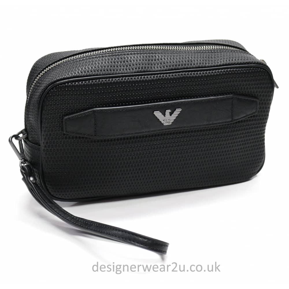 Armani Jeans Woven Wash Bag - Holiday Shop from DesignerWear2U UK a79991b87ecfa