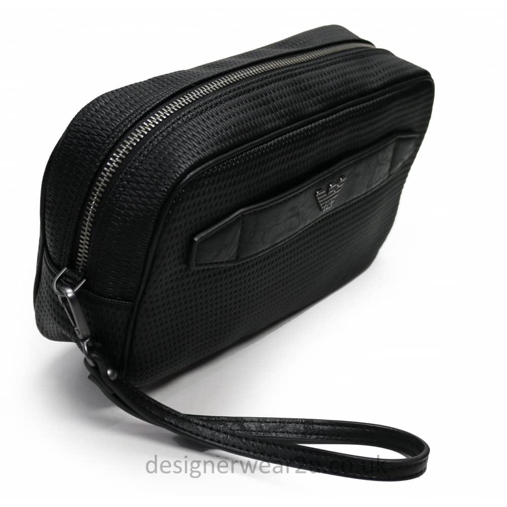 b34120da350b Armani Jeans Woven Wash Bag - Holiday Shop from DesignerWear2U UK