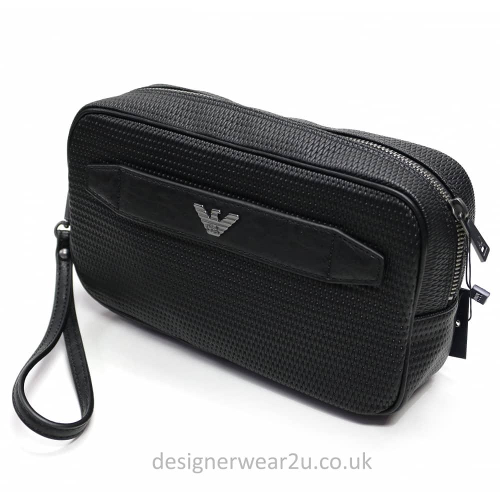 fa436396207d Armani Jeans Woven Wash Bag - Holiday Shop from DesignerWear2U UK