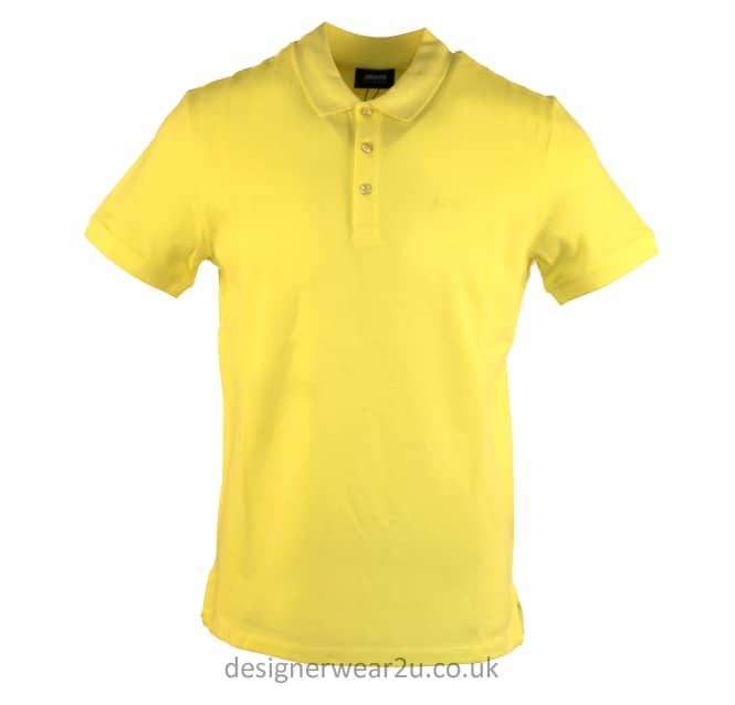 Armani Jeans Armani Jeans Yellow Cotton Regular Fitting Polo Shirt