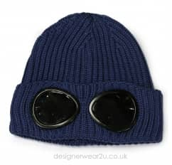 CP Company Airforce Wool Beanie Hat With Goggles