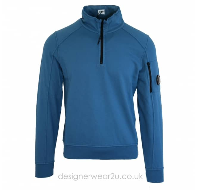 C.P Company CP Company Avio Quarter Zip Sweat With Arm Lens