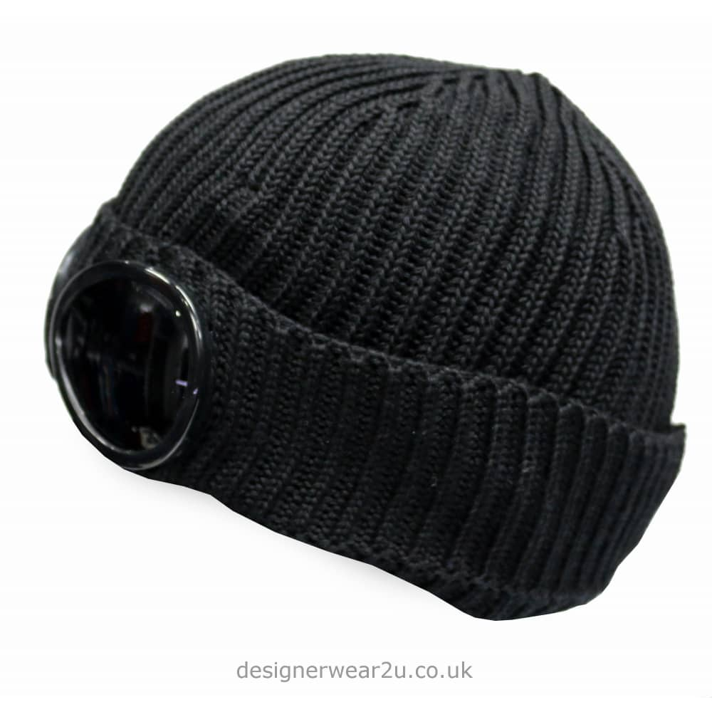 78cf588bb C.P Company CP Company Black Goggle Wool Beanie Hat