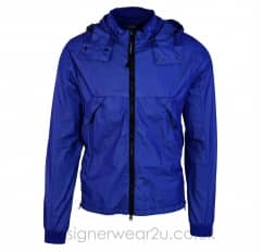 CP Company Blue Bi-Mesh Shell Jacket With Goggles