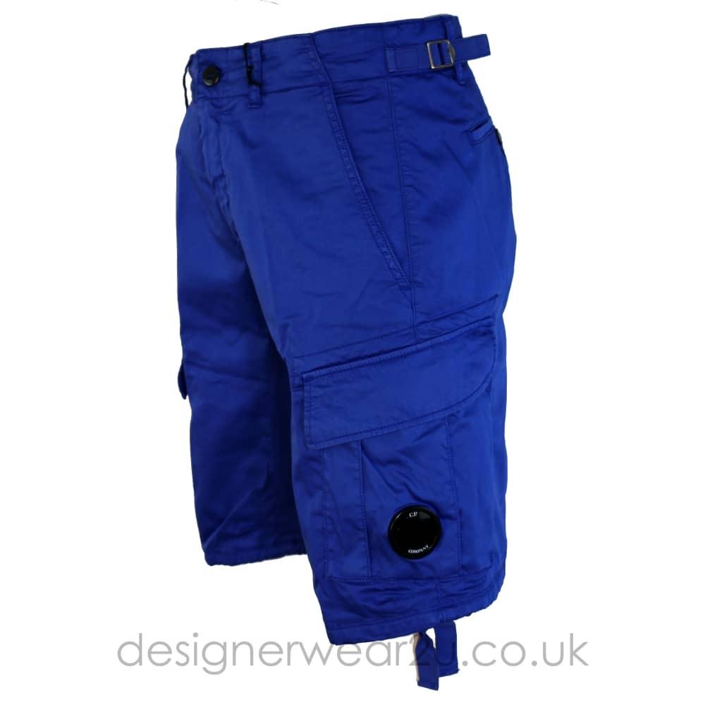 C.P Company CP Company Blue Cargo Shorts With lens