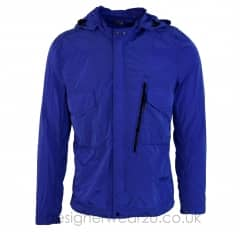 CP Company Blue Lightweight Chrome Goggle Jacket