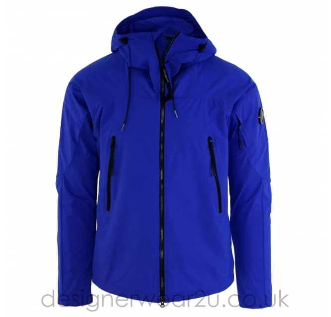 C.P Company CP Company Blue Lightweight Pro-Tek Jacket With Arm Lens