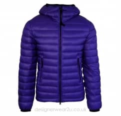 CP Company Blue Padded Down Jacket With Goggles