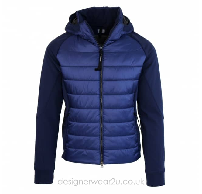 C.P Company CP Company Blue Padded Jacket With Goggles