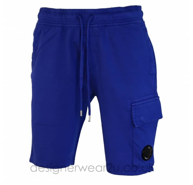 C.P Company CP Company Blue Sweat Shorts With lens