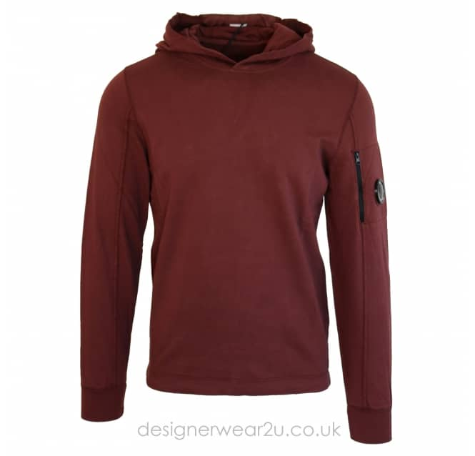 C.P Company CP Company Bordeaux Lightweight Hooded Sweat