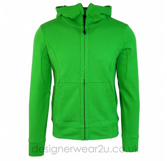 C.P Company CP Company Green hooded Sweatshirt With Goggles