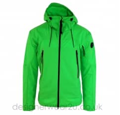 CP Company Green Lightweight Pro-Tek Jacket With Arm Lens