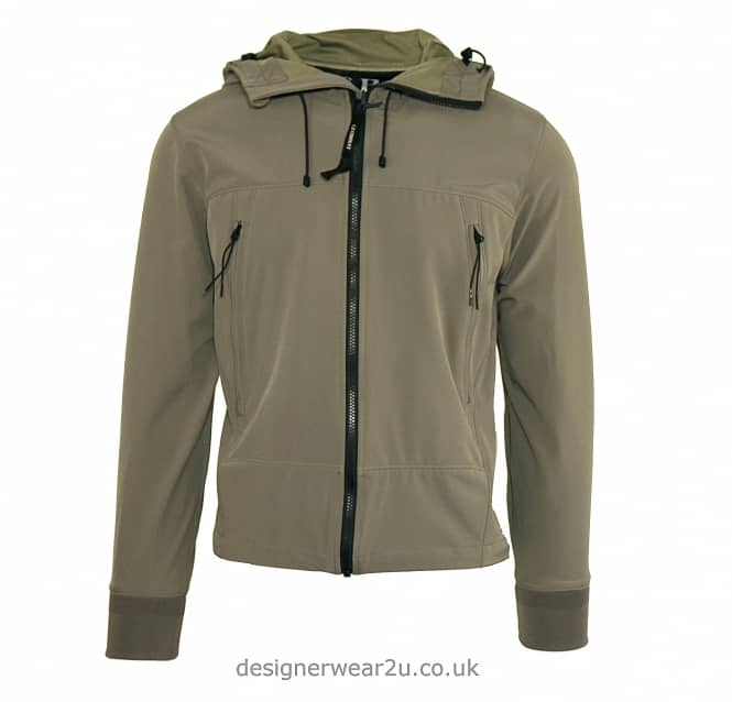 C.P Company CP Company Grey Soft Shell Jacket with Goggles