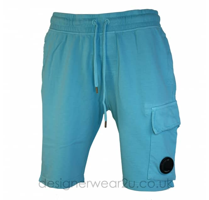 C.P Company CP Company Hawaiian Blue Sweat Shorts With lens