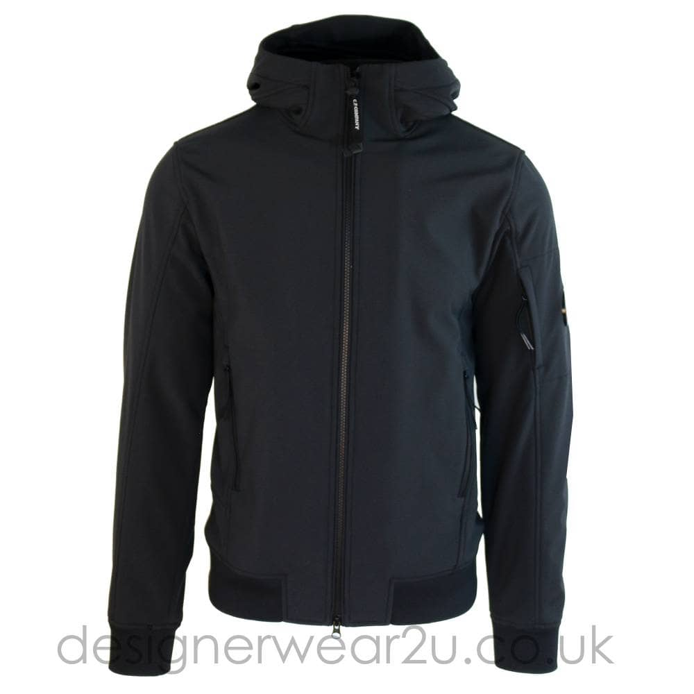 92887c3df C.P Company CP Company Hooded Shell Bomber Jacket With Arm lens