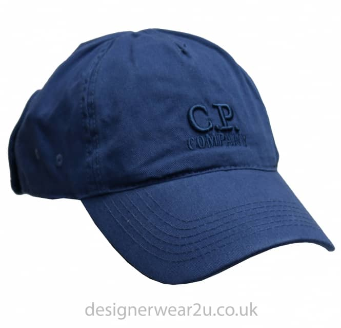 C.P Company CP Company Ink Blue Goggle Cap With Embroidered Logo