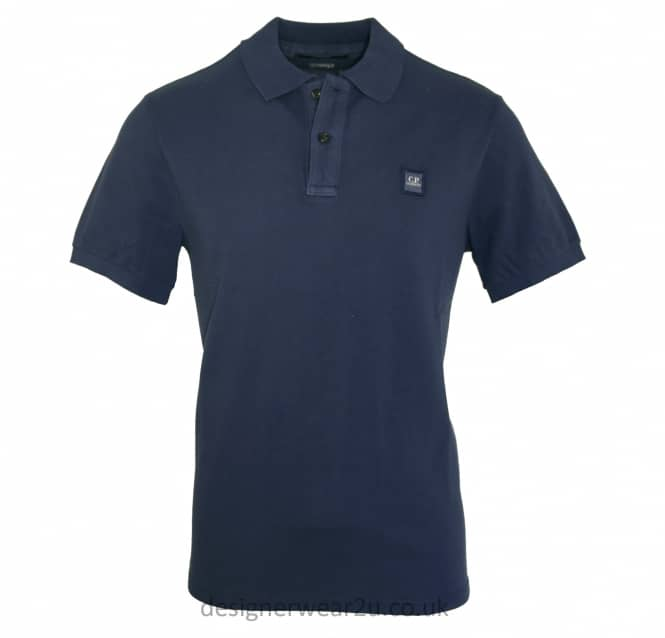 C.P Company CP Company Ink Blue Regular Fitting Polo Shirt