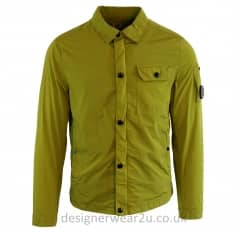 CP Company Lime Chrome Nylon Overshirt With Arm Lens
