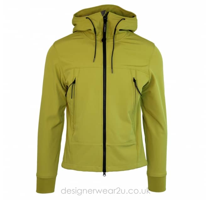 C.P Company CP Company Lime Soft Shell Jacket With Goggles