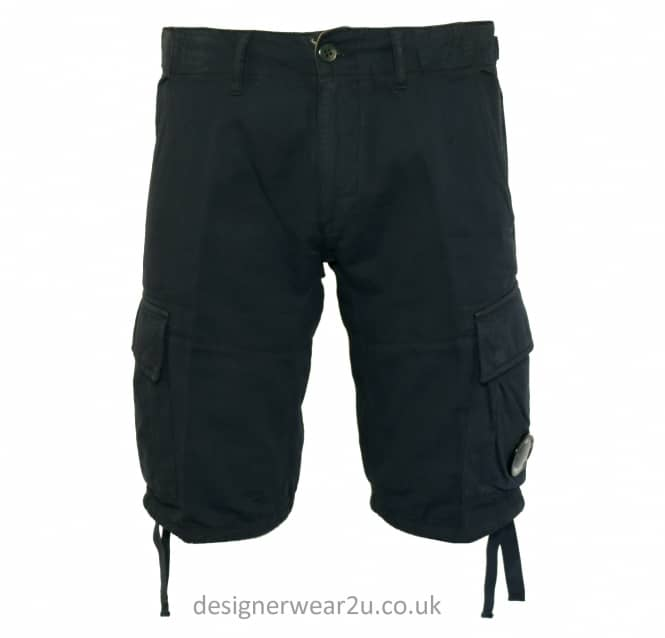 C.P Company CP Company Navy Cargo Shorts With Lens Detail