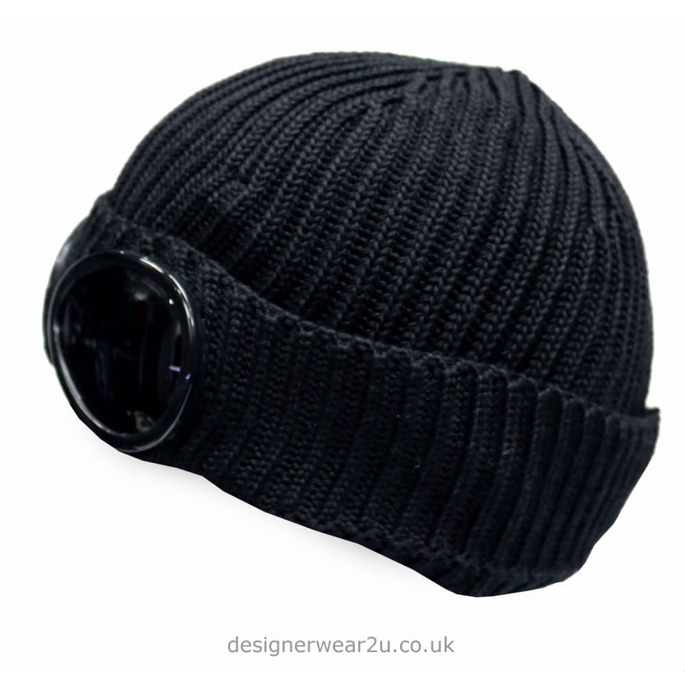 ... new product 079a1 91151 CP Company Navy Goggle Wool Beanie Hat ... d17268596b6c