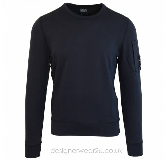 C.P Company CP Company Navy Lightweight Sweat With Arm Lens