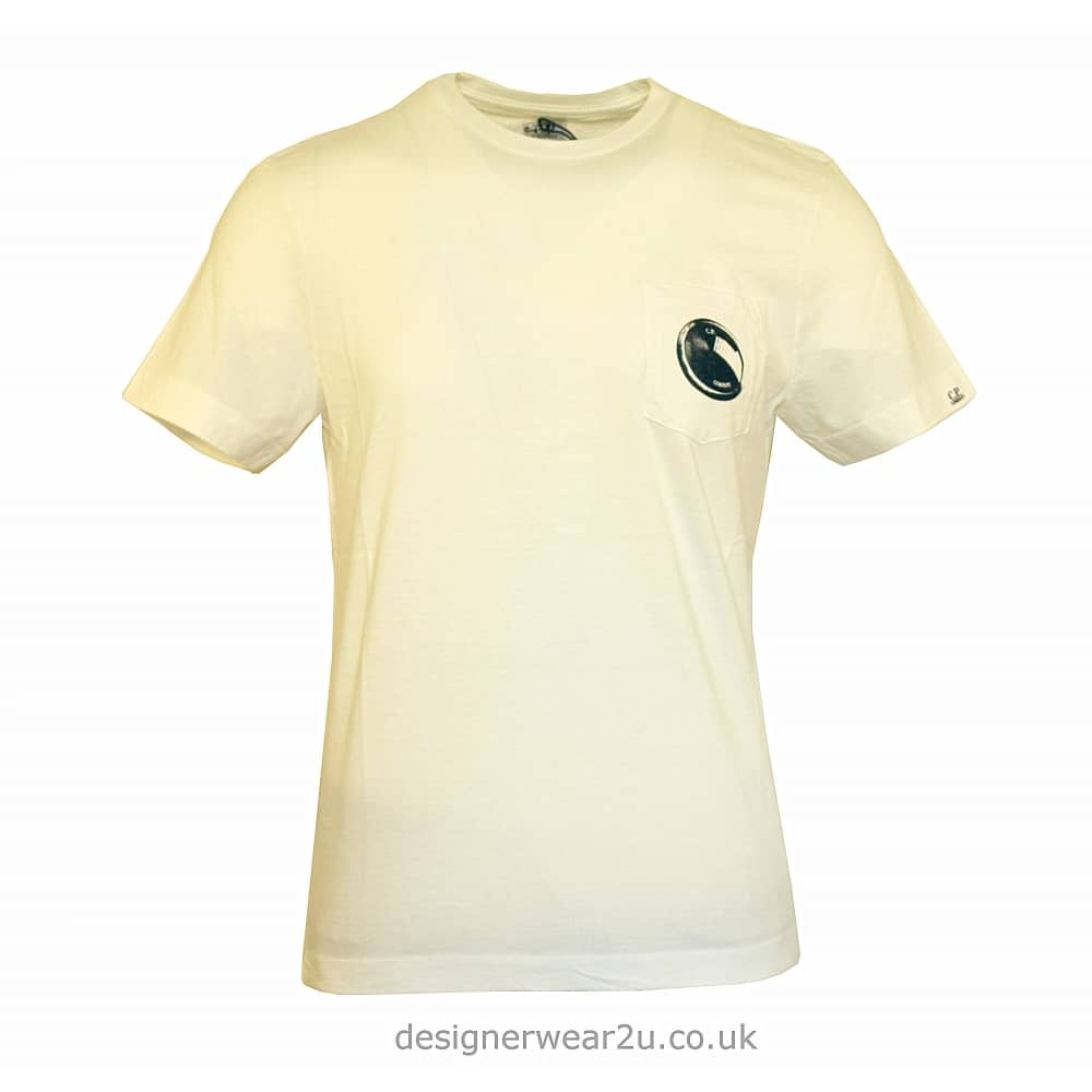 87dfa999cb8a C.P Company CP Company Off White T-Shirt With Lens Print - T-Shirts ...