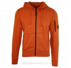 CP Company Orange Lightweight Hooded Zipper