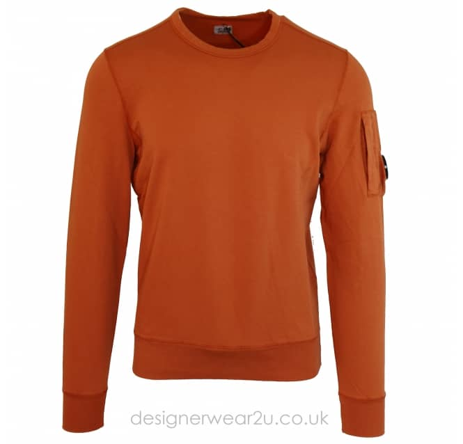 C.P Company CP Company Orange Lightweight Sweat With Arm Lens