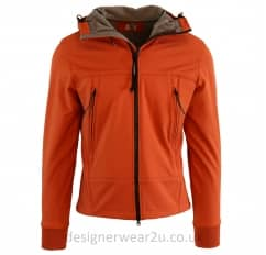 CP Company Orange Soft Shell Jacket With Goggles